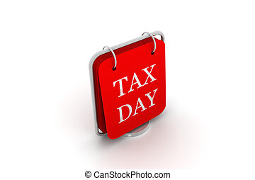 calendar and words that read Tax Day