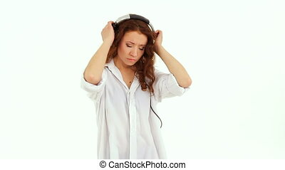 Girl loves music