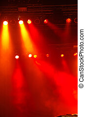 Stagelights - Disco lights at a big pop concert