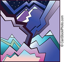Abstract mountains - Illustration of Abstract mountains ....