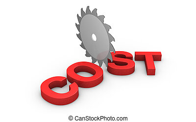 concept of cutting costs