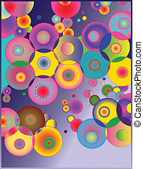 Gradient circles - Abstract vector illustration. High...