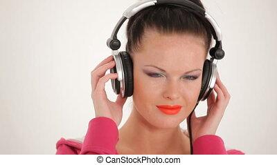 Singing girls face