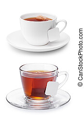 my cup of tea - two cups of tea isolated on white