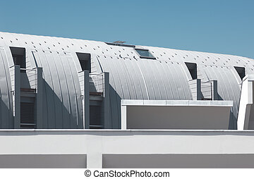 Modern roof architecture - Part of a modern building under...