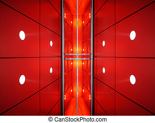Architecture abstract - View of reflecting walls of...