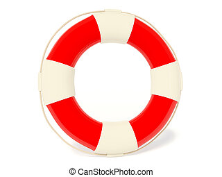 life buoy on white background