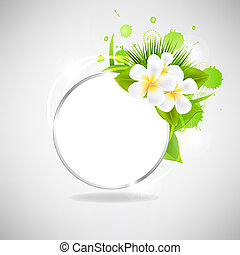 Eco Glass Speech Bubble With Flowers
