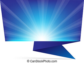 Blue Sunburst Origami