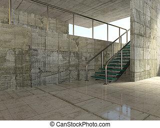 design -  concrete design in  modern  style