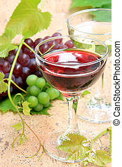 wine and grapes - I attach a grape to the wine which was in...