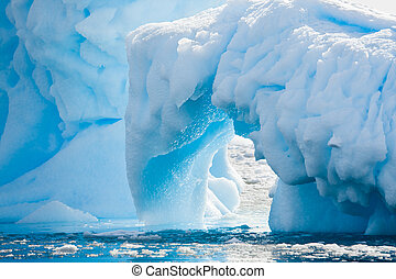 Antarctic Glacier - Antarctic glacier in the snow Beautiful...