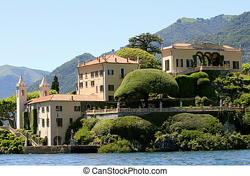 Villa del Balbianello, Lenno, Lake Como, Italy. Parts of the...