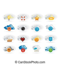 clouds and icons