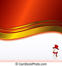 red background with snowman