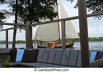 Sailboat on Watersport Terrace - On a watersport terras in...