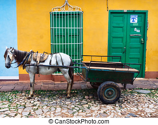 Trinidad, Cuba. View of Trinidad street, one of UNESCOs...