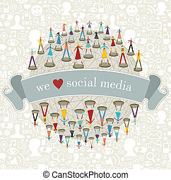We Love social media network - We love social media network...