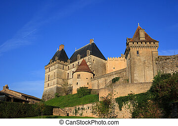 Chateau de Biron (Dordogne, France). This ancient fortress...