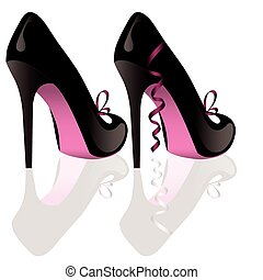 pair of shoes - vector pair of shoes