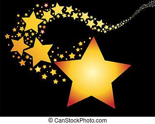 skjutning, stjärna