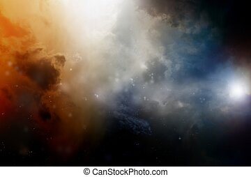 Dark sky - Dramatic background - dark sky, bright light