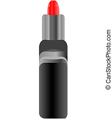 woman red lipstick isolated on white background vector