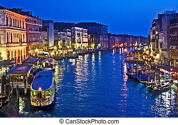 Canale Grande in Venice by night