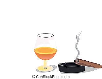 liquor cigar ashtray