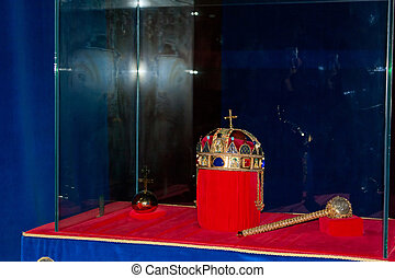 St Stephen Crown and scepter - Hungarian and christian...
