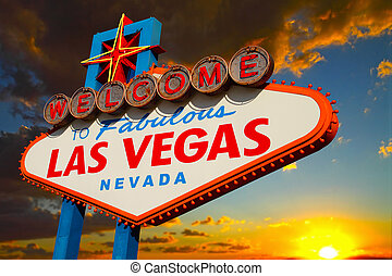 Las Vegas Sign - A view of the Welcome to fabulous Las Vegas...