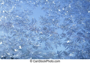 Evening Blue Frost Pattern - evening blue frost pattern...