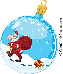 christmas ball with Santa