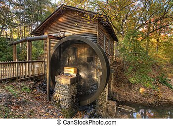 Hurricane Shoals Gristmill - Gristmill at Hurricane Shoals...