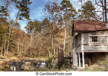 Laudermilk Mill - Laudermilk Gristmill in Northeast Georgia,...