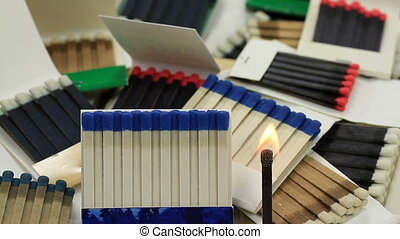 Matchbooks and fired Paper Stick wi - Group of different...