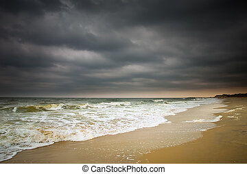 Stormy weather, Atlantic ocean coast