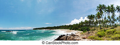 Tropical paradise - Wide panoramic photo of a tropical...