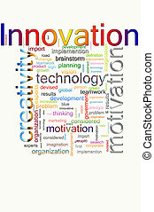 Word cloud concept illustration of innovative words