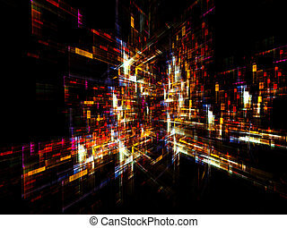 Colorful Abstract Background - Dynamic interplay of...