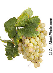 white  grape, isolated
