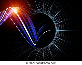 Virtual Wave - Interplay of abstract forms, colors and...
