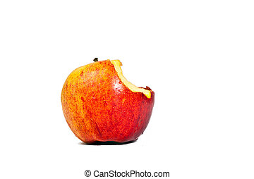 isolated apple with bite