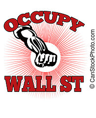 Occupy Wall Street American Worker - retro style...