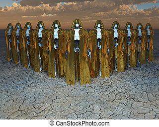 Android Mystics - Group of andriods in robes