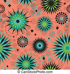 Seamless Retro Starbursts Pattern - This is a resizable...