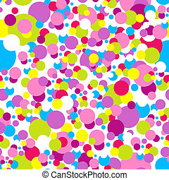 Confetti New Year pattern - Seamless confetti pattern in...