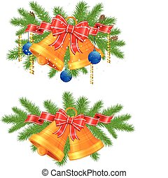 Christmas decoration - Set of festive decorations with...