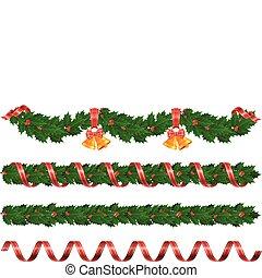 navidad, guirnaldas