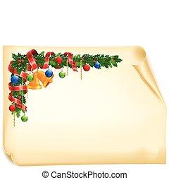 Christmas angle garland card